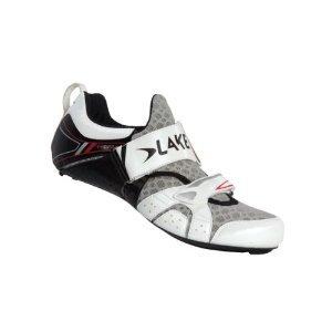 Lake Cycling 2015 Men's TX222 Triathlon Shoe (White/Black - 40.5) by Lake Cycling