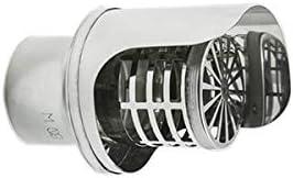 Sombrero de tubo de escape humos INOX DN 100 mm de pared con prueba de lluvia
