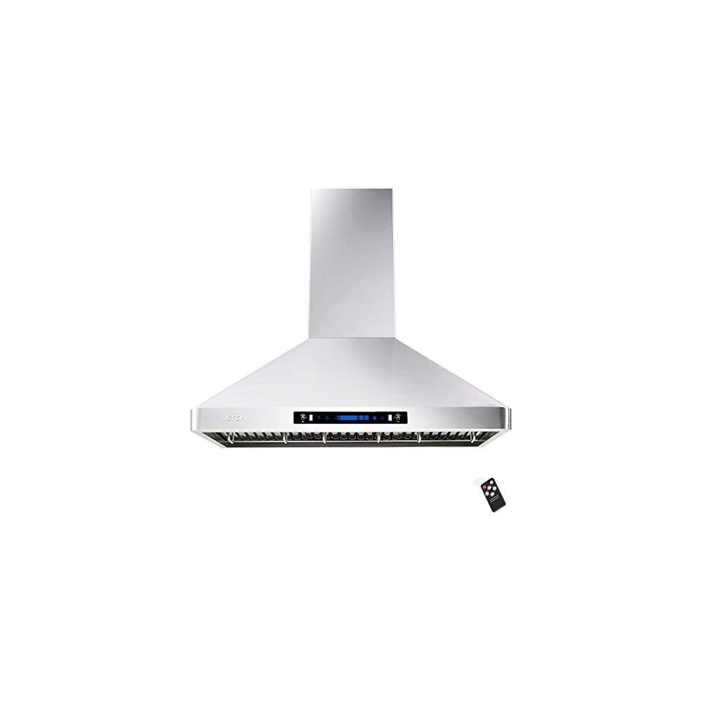 IKTCH 36'' Wall Mount Range Hood, 900 CFM Stainless Steel Kitchen Chimney Vent with Gesture Sensing & Touch Control…