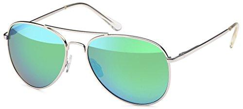 hombre 77 Silver Grün Hatstar Rahmen para Verspiegelt Gafas de Glas sol qwxqnZ1SI
