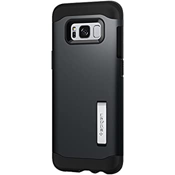 Spigen Slim Armor Galaxy S8 Case with Air Cushion Technology and Hybrid Drop Protection for Galaxy S8 (2017) - Metal Slate
