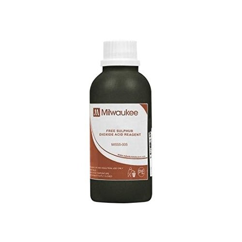 Milwaukee Instruments Mi555-005, Acid Reagent for Free SO2, 4x100ml, 8 Packs of 4 Bottles by Milwaukee
