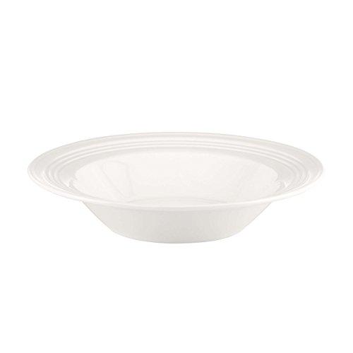 Lenox Tin Can Alley Four Degree Pasta Bowl Rim Soup, White