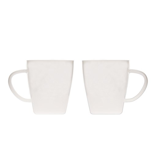 Glass Mugs Coffee Cups 17oz (500ml) with Handles for Espresso Juice Water Milk Set of 2 Jade - Glass 2 Milk White