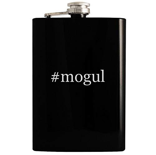 #mogul - 8oz Hashtag Hip Drinking Alcohol Flask, Black