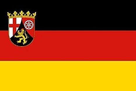 Rheinland-Pfalz Flagge im Hochformat Premium-Qualität