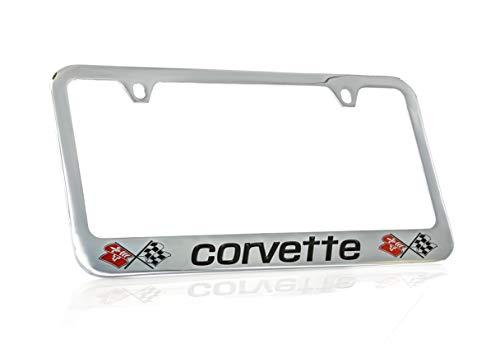 Chevrolet Corvette C3 Chrome Plated Metal License Plate Frame Holder