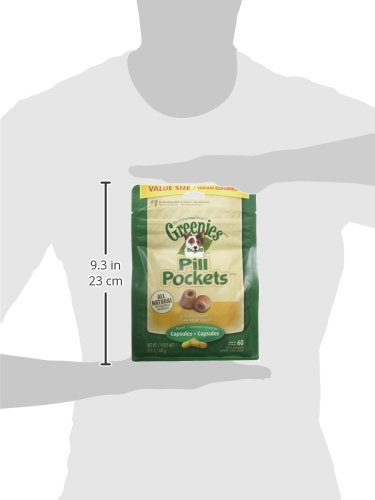 Large Product Image of Greenies PILL POCKETS Soft Dog Treats, Chicken, Capsule 15.8-oz. 60-count pack of PILL POCKETS Treats for Dogs Chicken, 1 vet-recommended choice for giving pills