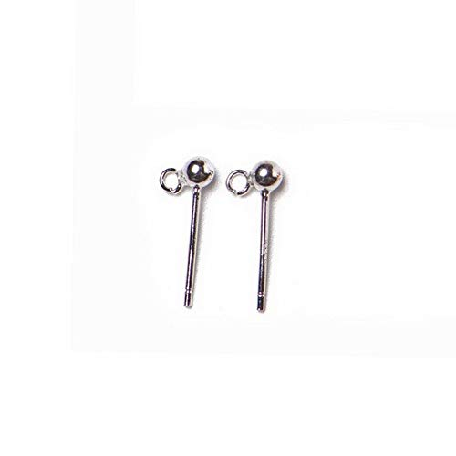 Dokis S925 Silver Plated Ear Studs Accessories DIY Beads Earrings Accessories   Model ERRNGS - 2360  