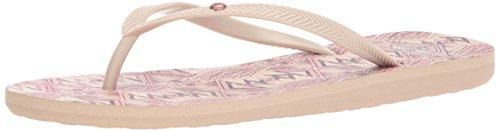 Zeh Bermuda Tan Pink Strand Crazy Frauen Flip Flops Roxy Offener 0tSwTqaW5