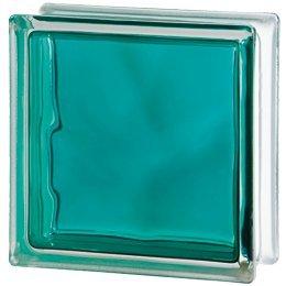 10x Glasbaustein Wolke blau Brilliant 19x19 cm