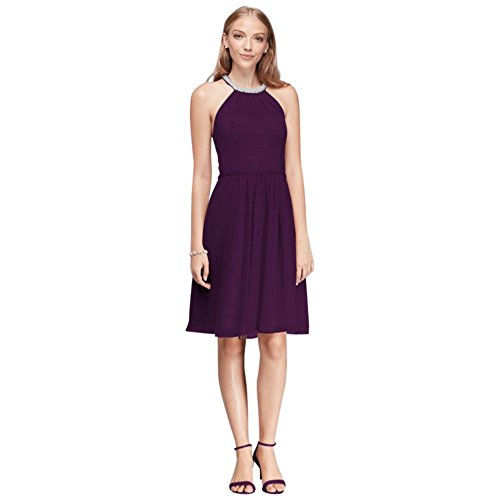 short-chiffon-bridesmaid-dress-with-beaded-illusion-neckline-style-w11082
