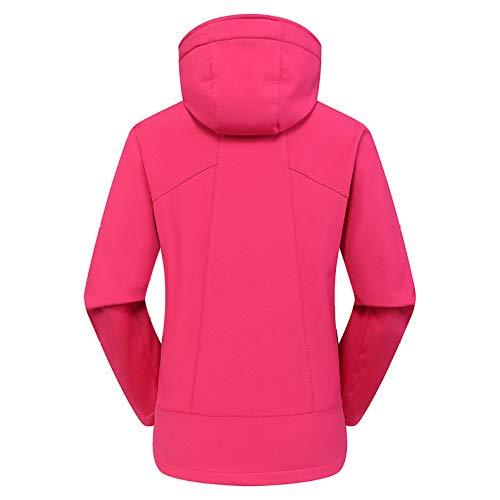 D'extérieur Casual Vêtements Outdoor Vestes Épaisses Pour Coupe vent Zippées Femme Cordon Pink De Sport zVpLqMSUG