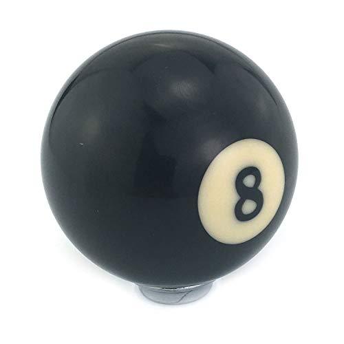 Thruifo Black 8 Billiard Style Shift Stick Knob, Pool Table Ball Shape Car Gear Shifter Head Fit Most Manual Automatic Vehicles