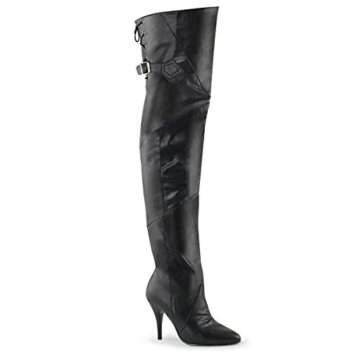 Pleaser Women's Legend 8890 Boots, Black Faux Leather, 7 M - 8890 Leather