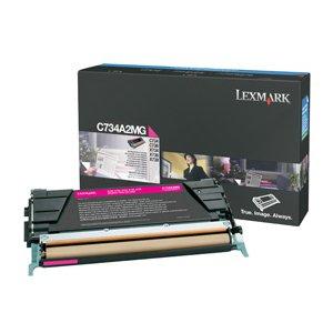 Lexmark Magenta Return Program Toner Cartridge. MAGENTA RETURN PROG TONER CART FOR C734 C736 X734 X736 X738. Magenta - Laser - 6000 Page