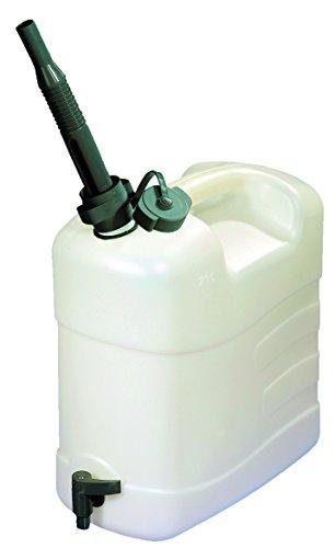 Pressol Kanister Combi-20 l mit Ausgießtülle und Ablasshahn, Transparent, 28020