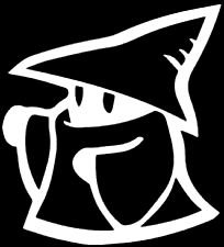 Final Fantasy Black Mage WHITE Vinyl Car/Laptop/Window/Wall Decal