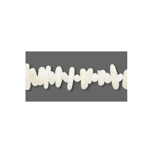 Strand Of 250+ White Bamboo Coral 8-10mm Cupolini Chip Beads - (FM4705) - Charming (Bamboo Coral Beads)