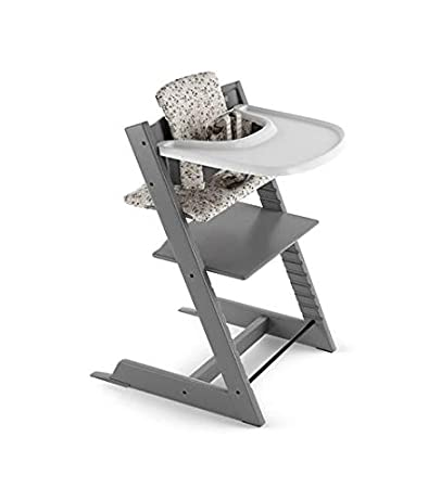 Fabulous Stokke 2019 Tripp Trapp High Chair Complete Bundle Storm Grey With Garden Bunny Cushion And White Tray Caraccident5 Cool Chair Designs And Ideas Caraccident5Info