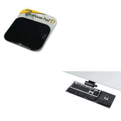 KITFEL58024FEL8036001 - Value Kit - Fellowes Professional Premier Adjustable Keyboard Tray (FEL8036001) and Fellowes Polyester Mouse Pad (FEL58024) by Fellowes