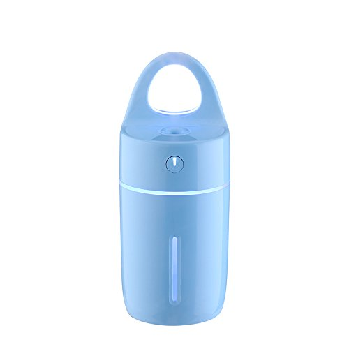 TechCode Car Diffuser Humidifier, 175ML Magic Cup Shape Humidifier Mini Aroma Diffuser Best Essential Oil Diffuser USB Purifier With Colorful Led Night Light for Home Car Office Baby Room (Blue)