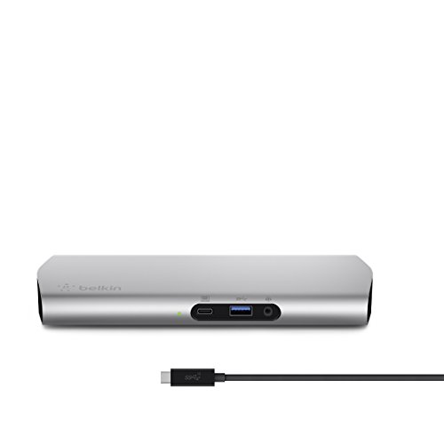 - Belkin USB-C 3.1 Express Dock HD with 1-Meter/3.3 Foot USB-C Cable: Compatible with MacBook (Early 2015 or later,) MacBook Pro 13