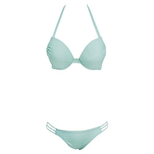 SW10290C4 Nylon Women Bikini Swimsuit Size S (Baywatch Trunks)