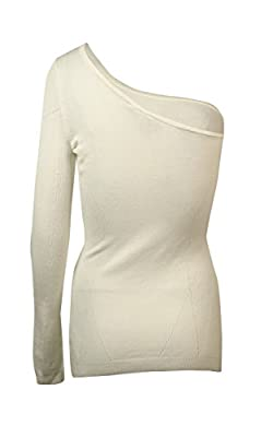 Guess Womens L/S One Shoulder Allison Fitted Sweater