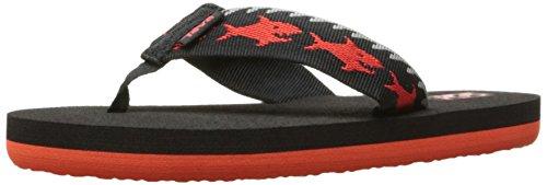 Teva Boys' MUSH II Sandal, Sharks Black/Red, 13 M US Little