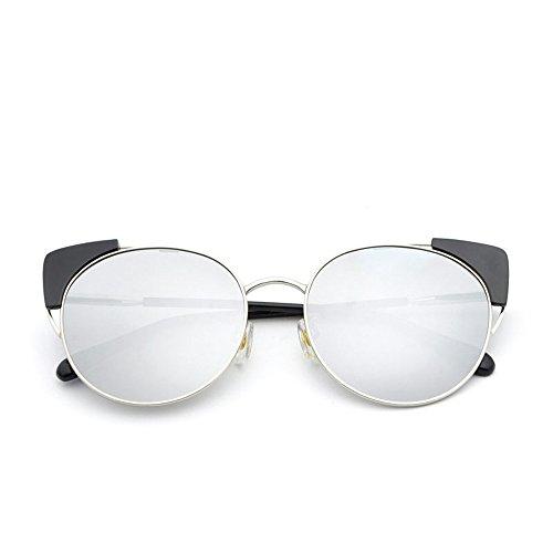 アプトドナー援助全フレーム サングラス 紫外线 メガネ 偏光サングラス。 眩しい光 似合う 戸外 運転する。 (Color : Silver)