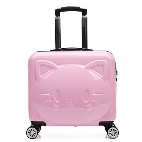 20' Trolley Bag - RMXMY 20 Inch Trolley case Cute Cartoon Bear Zipper Suitcase Universal Wheel Boarding case Men and Women Baby Suitcase Luggage (Color : Pink)