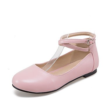 Cómodo y elegante soporte de zapatos de las mujeres pisos primavera verano otoño invierno piel sintética comodidad oficina y carrera vestido casual soporte de talón hebilla negro azul rosa rojo blanco blanco