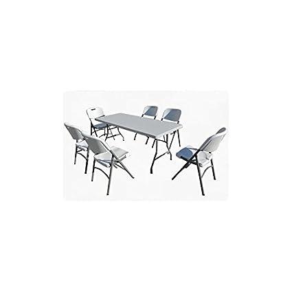 LM-Distribution - Conjunto mesa maleta + 6 sillas plegables ...