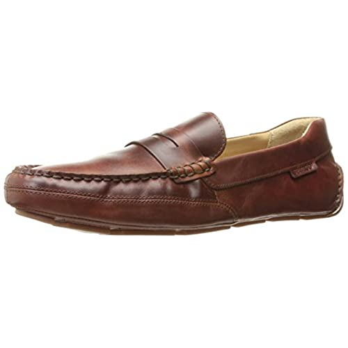 Mens Kedge Penny Slip-On Loafer, Brown Oiled Waxy Leather, 7.5 M US Sebago