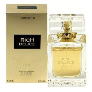 Johan B. Rich Delice for Women Eau De Parfum Spray, 2.8 Ounce by Johan