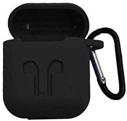 RIVES Silicone-Shockproof Case Cover with Carabiner Hook Compatible with AirPod 1 & 2 (Device Not Included)( Pack of 1)
