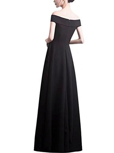 Ainidress Longue Robe De Bal Des Femmes Hors Robe De Soirée Épaule Pour Les Robes De Fête Formelle Bourgogne
