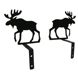 Village Wrought Iron 5 Inch Moose Curtain Swags