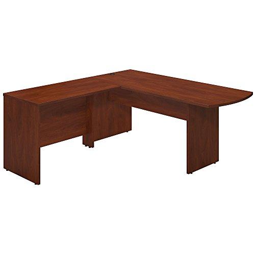 Bush Business Furniture Series C Elite 72W x 30D Peninsula Desk Shell with 42W Return in Hansen Cherry