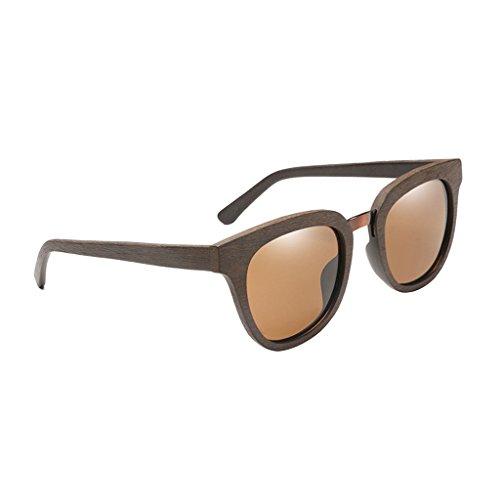 UV Lectura Viaje Sol de como Cómodo Describe Conducir Hombres Duradero se Amarillo Gafas de Homyl Marron Madera Pesca Senderismo oscuro 400 1x wtIxpYMqX