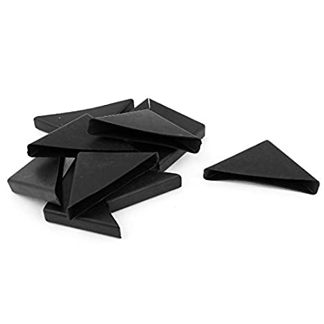 Amazon.com : 10pcs 10mm x 75mm Negro plástico empotrada mesa ...