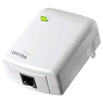 Leviton VRC0P-1LW Vizia RF + Plug-In Serial Interface Module RS232 ASCII Interface, White