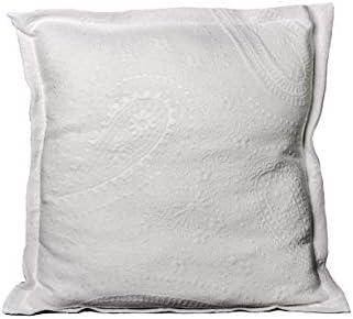 Leiper Colcha Cubrecama Sabri de Jacquard Cashmere en Color Blanco, Gris o Beige (Todas Las Medidas). (Blanco, 1 Funda Cojin 60x60 + 3cm de pestaña)