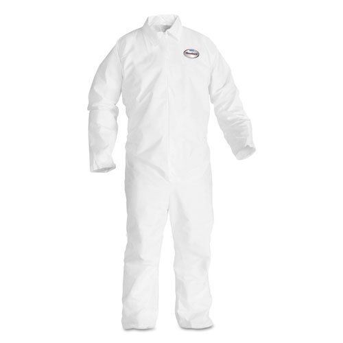 KleenGuard 49003 BP A20 Coveralls MICROFORCE Barrier SMS Fabric White Large -