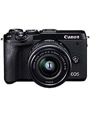 Canon EOS M6 Mark II Kit W/Ef M15-45mm, Black