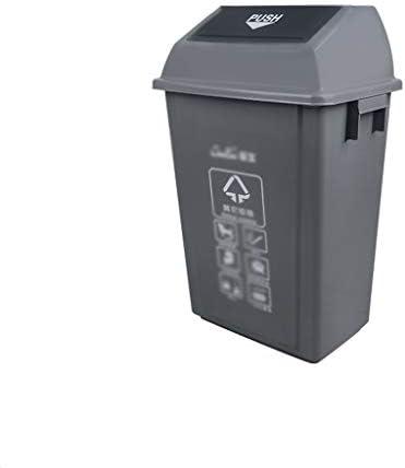 滑らかな表面 大型ゴミ箱、公園に適し長方形飛散防止多機能リサイクルビンごみコンテナ、工場 リサイクル可能なデザイン (Color : Gray, Size : 44.5*32*76CM)