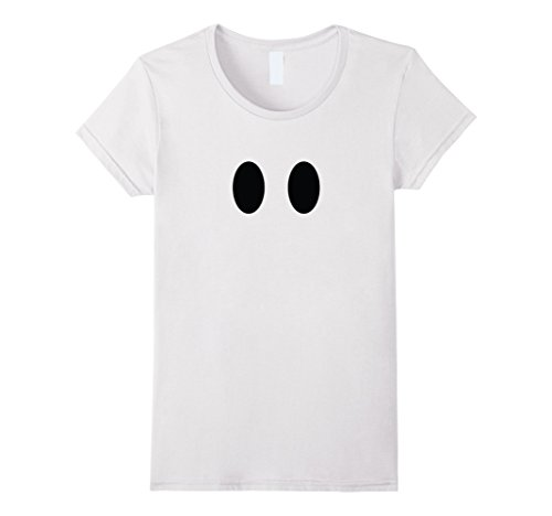 Trick Or Treat Costumes White Lady (Womens Cute Halloween Ghost Costume TShirt for Trick or Treat Kids Medium White)