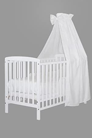 KOKO -Babybett |'MIA' | Komplett | 120x60 cm | Buche |weiss | Designwahl (Design: weiss) KOKO-Kinderartikel