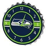 NFL Seattle Seahawksbottlecap Clock, Seattle Seahawks, One Size